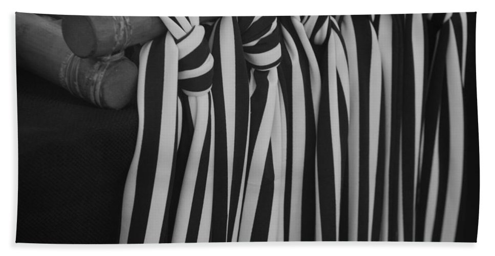 Ties Beach Towel featuring the photograph 5 Black And White Ties by Rob Hans