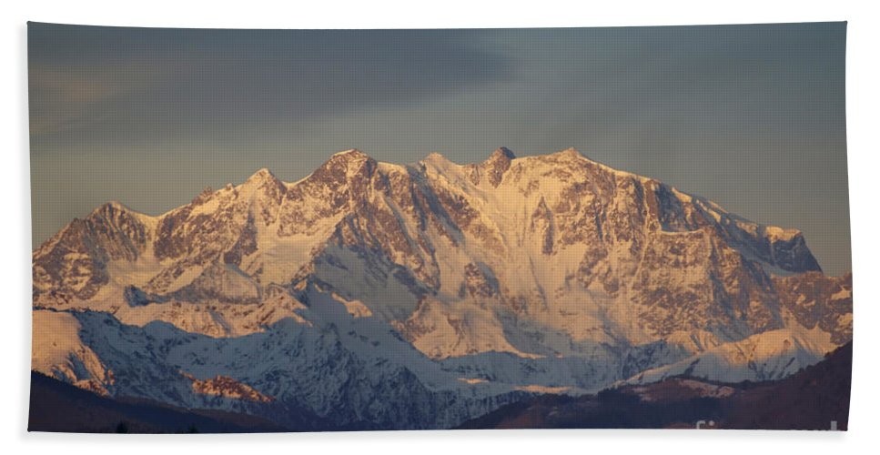 Mountains Beach Towel featuring the photograph Snow-capped Mountain by Mats Silvan