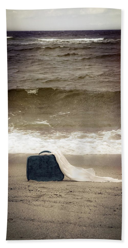 Suitcase Beach Towel featuring the photograph Suitcase by Joana Kruse