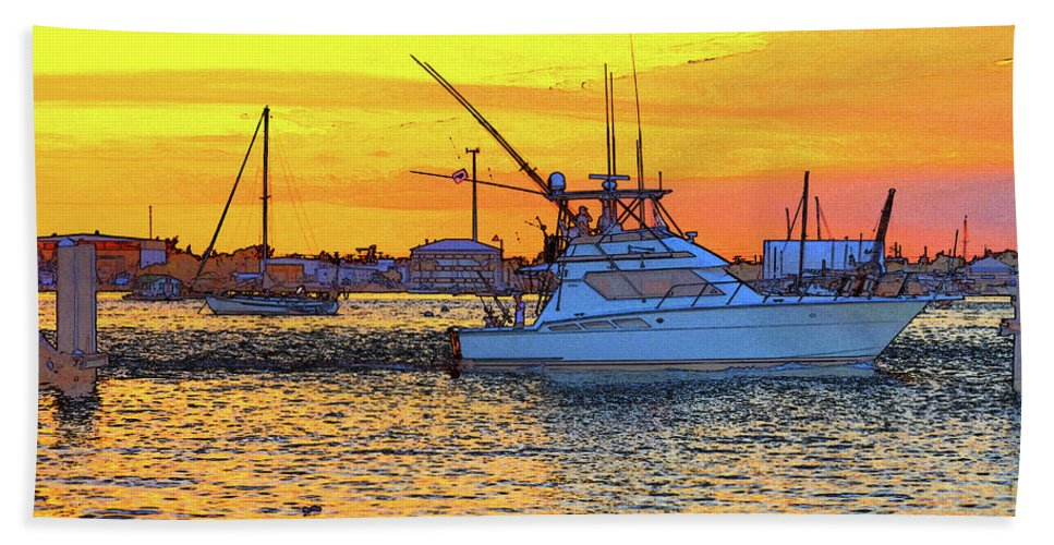 Beach Towel featuring the photograph 57- Sunset Cruise by Joseph Keane