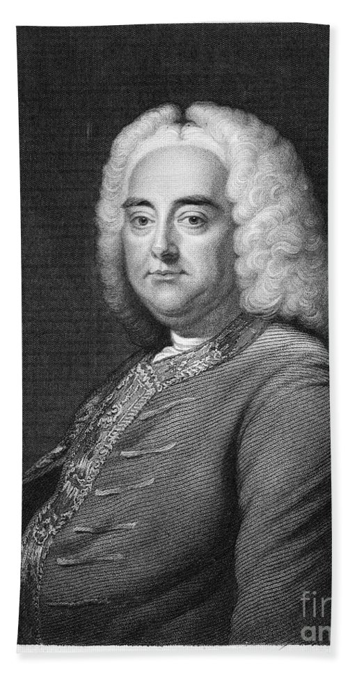 18th Century Beach Towel featuring the photograph George Frederick Handel by Granger