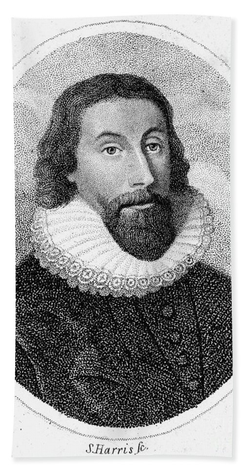 17th Century Beach Towel featuring the photograph John Winthrop (1588-1649) by Granger