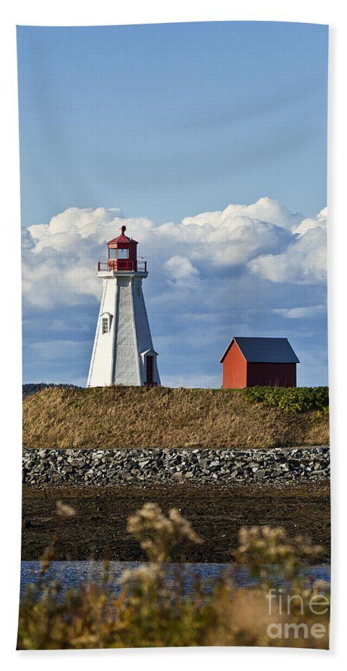 Campobello Island Beach Towel featuring the photograph Mulholland Lighthouse by John Greim