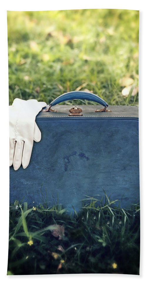 Leather Bag Beach Towel featuring the photograph Suitcase by Joana Kruse