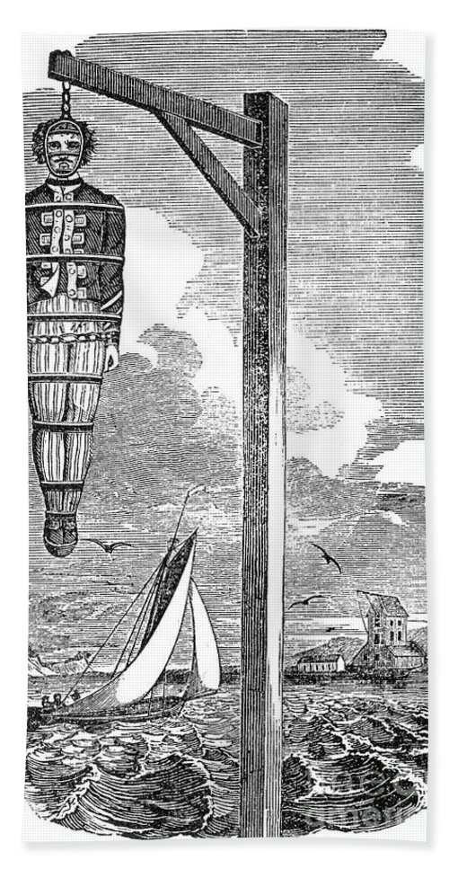 1701 Beach Towel featuring the photograph William Kidd (c1645-1701) by Granger