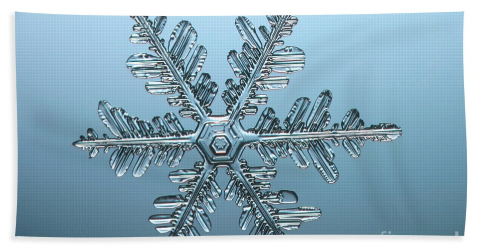 Snowflake Beach Towel featuring the photograph Snowflake by Ted Kinsman