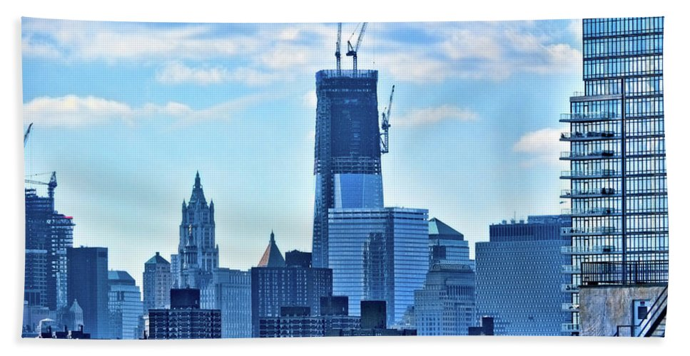 One World Trade Beach Towel featuring the photograph 92 Of 104 by S Paul Sahm