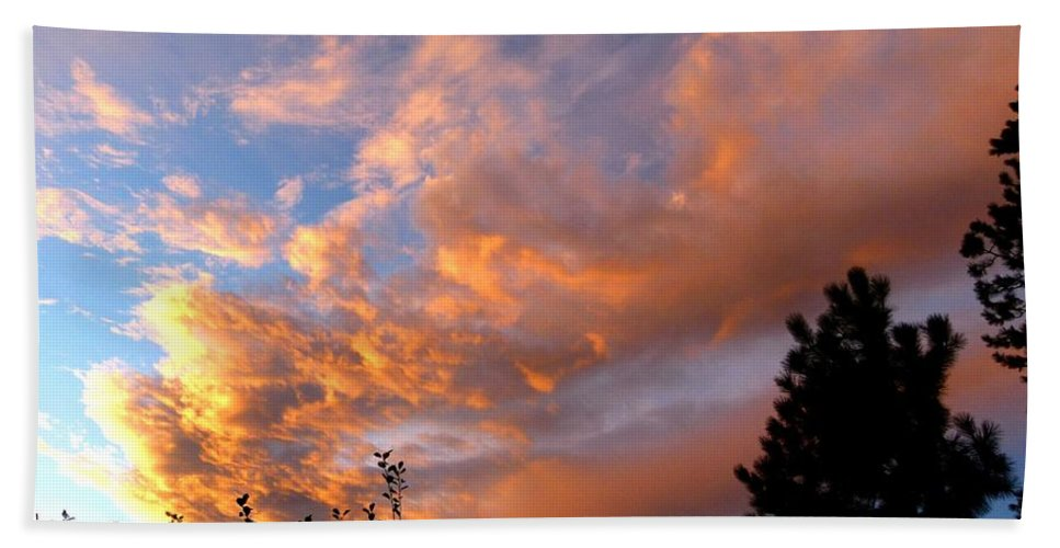 Sunset Beach Towel featuring the photograph A Dramatic Summer Evening 2 by Will Borden