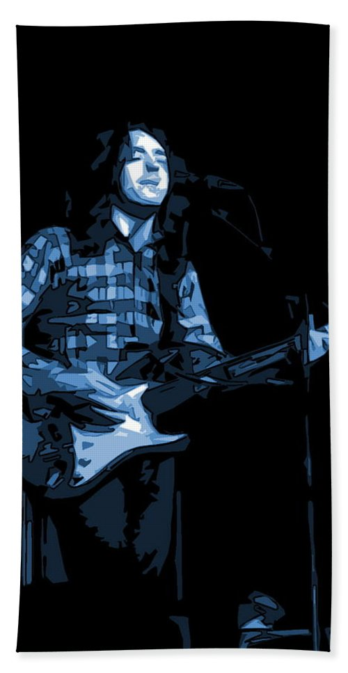 Rock Musicians Beach Towel featuring the photograph A Million Blue Miles Away 2 by Ben Upham