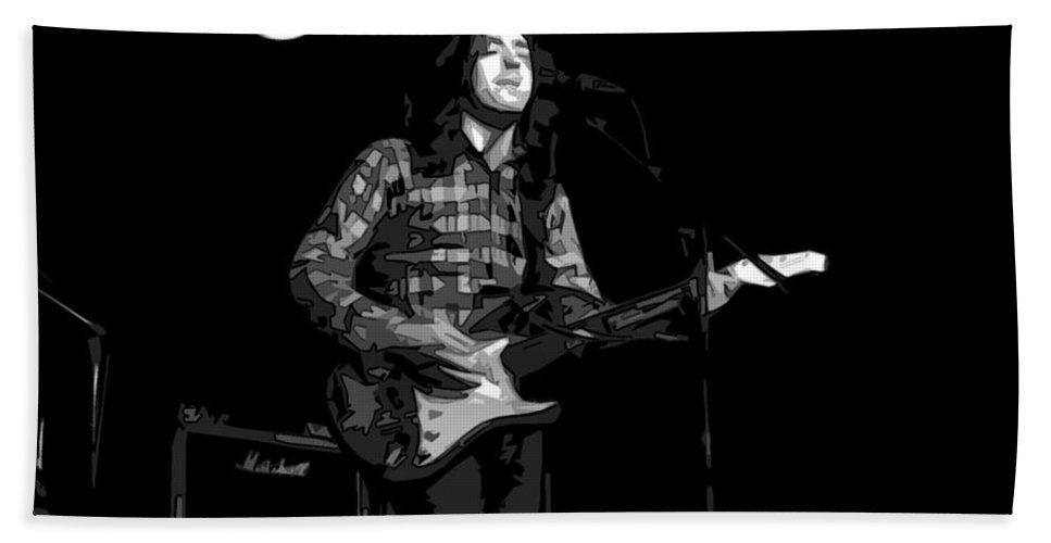 Rock Musicians Beach Towel featuring the photograph A Million Miles Away by Ben Upham