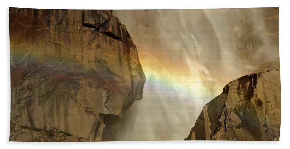 Yosemite National Park Beach Towel featuring the photograph A Rocky Nap by Adam Jewell