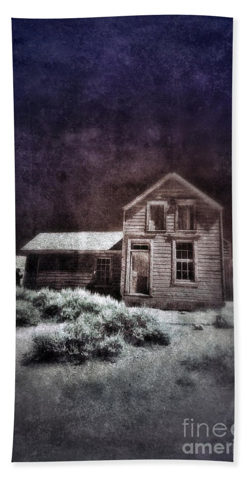 Shack Beach Towel featuring the photograph Abandoned House In Infrared by Jill Battaglia