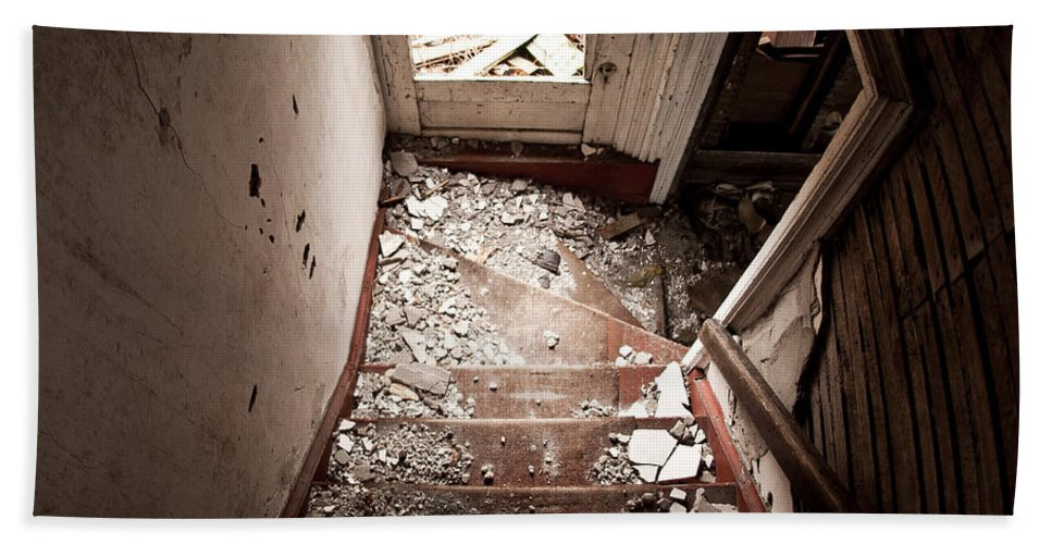 Stairs Beach Towel featuring the photograph Abandoned Stairs 2 by Cale Best