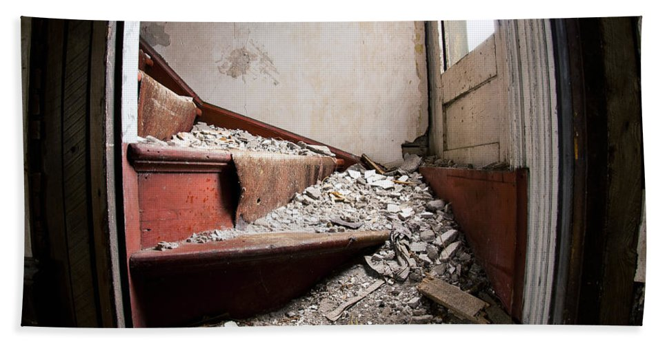 Decay Beach Towel featuring the photograph Abandoned Stairs by Cale Best