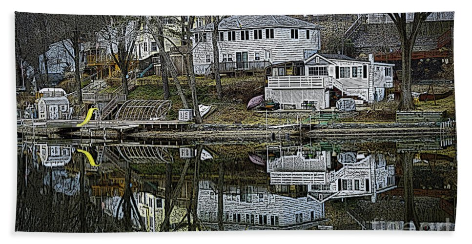 Lake Beach Towel featuring the photograph Above And Below by Luke Moore