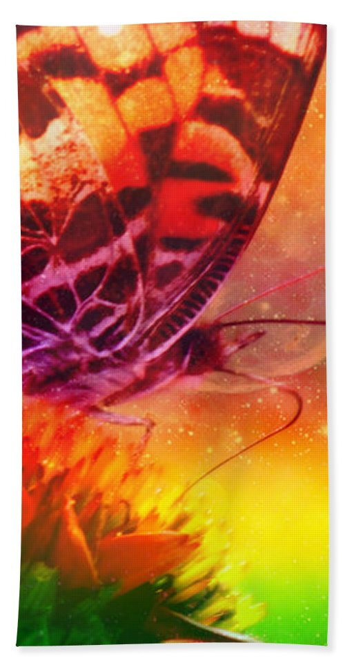 Butterfly Beach Towel featuring the photograph Above And Beyond by Linda Sannuti