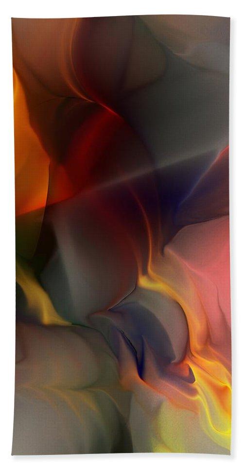 Fine Art Beach Towel featuring the digital art Abstract 021912a by David Lane