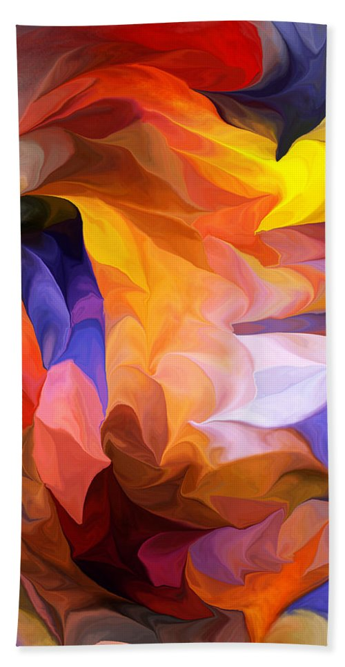 Fine Art Beach Towel featuring the digital art Abstract 050312 by David Lane