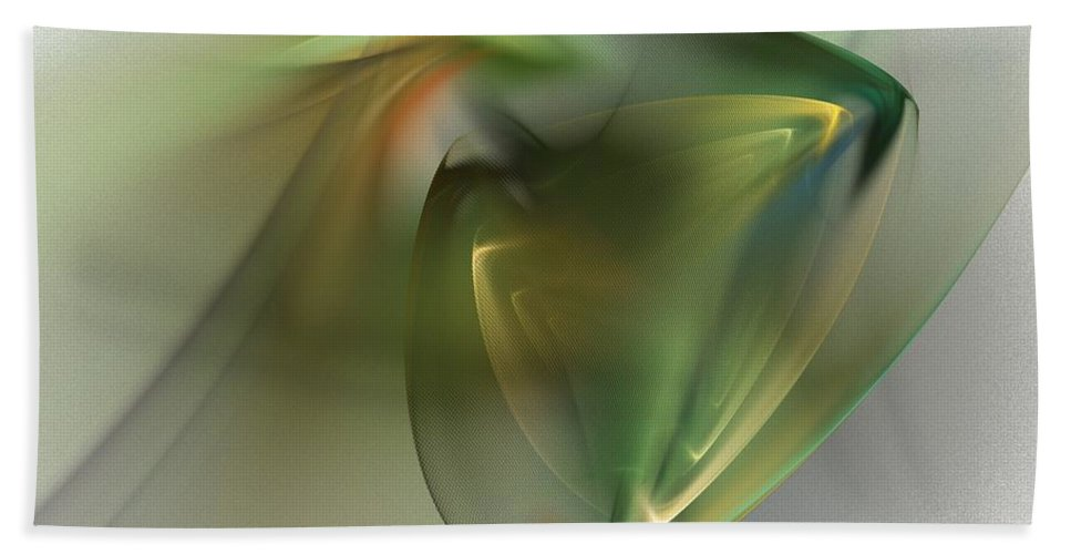 Fine Art Beach Towel featuring the digital art Abstract 101311f by David Lane