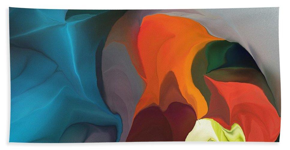 Fine Art Beach Towel featuring the digital art Abstract 122211 by David Lane
