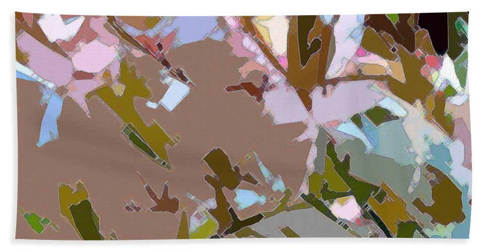 Abstract Beach Towel featuring the photograph Abstract 163 by Pamela Cooper