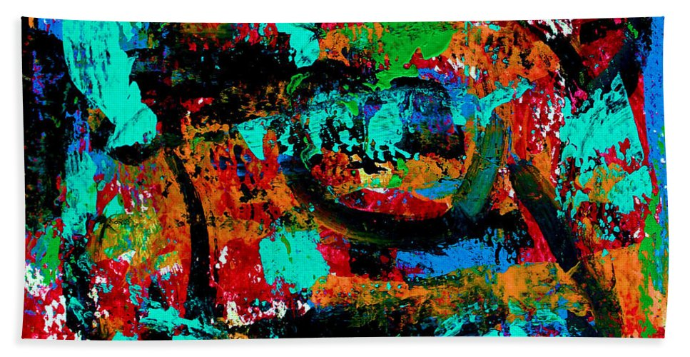 Abstracts Beach Towel featuring the painting Abstract 5 by Natalie Holland