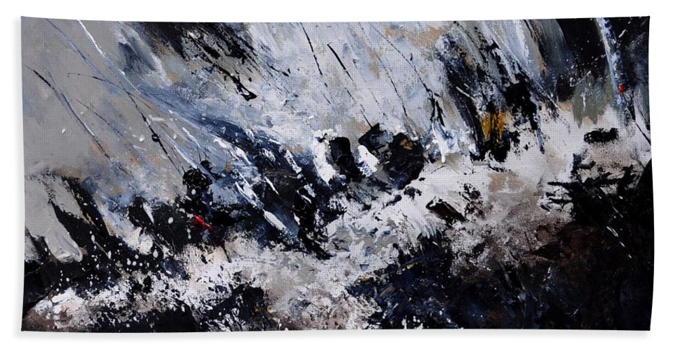 Abstract Beach Towel featuring the painting Abstract 7721202 by Pol Ledent