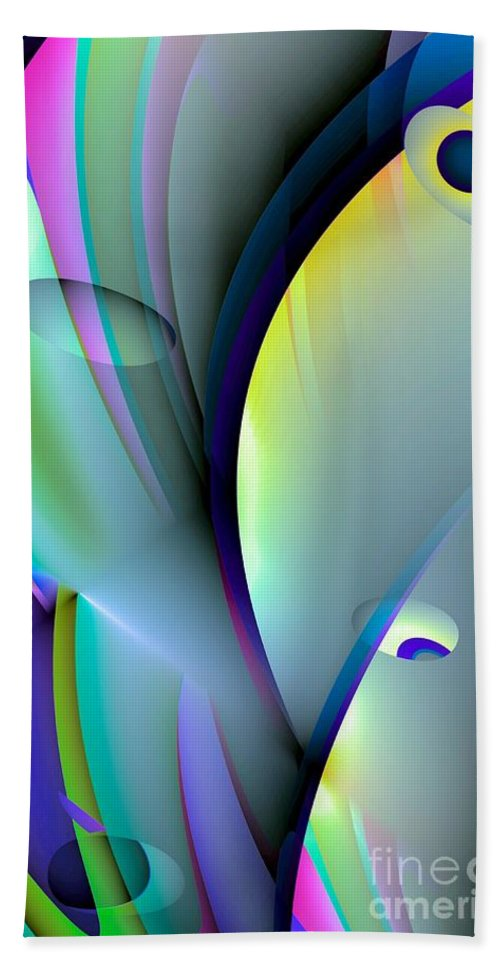 Abstract Beach Towel featuring the digital art Abstract 80 by Maria Urso