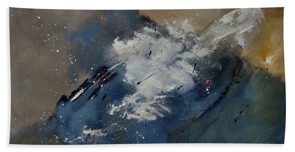 Abstract Beach Towel featuring the painting Abstract 8821206 by Pol Ledent