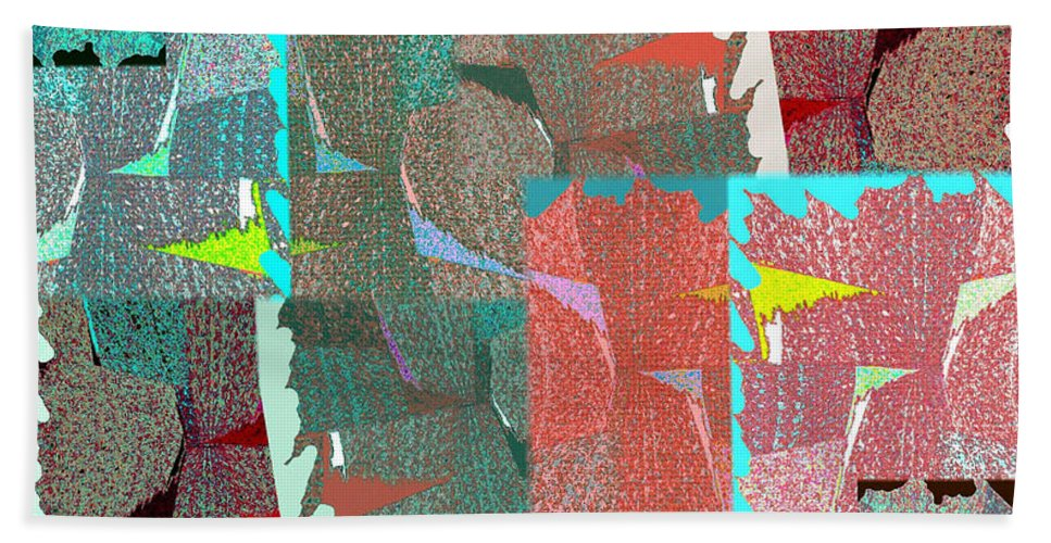 Abstract Fusion Beach Towel featuring the digital art Abstract Fusion 39 by Will Borden