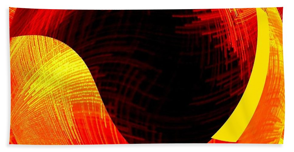 Abstract Fusion Beach Towel featuring the digital art Abstract Fusion 40 by Will Borden