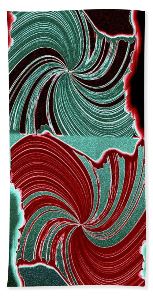 Abstract Fusion Beach Towel featuring the digital art Abstract Fusion 88 by Will Borden