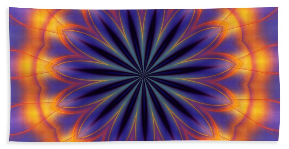 Abstract Beach Towel featuring the digital art Abstract Kaleidoscope by David Lane