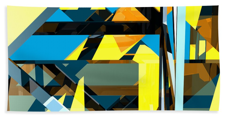 Abstract Beach Towel featuring the digital art Abstract Sine L 15 by Russell Kightley