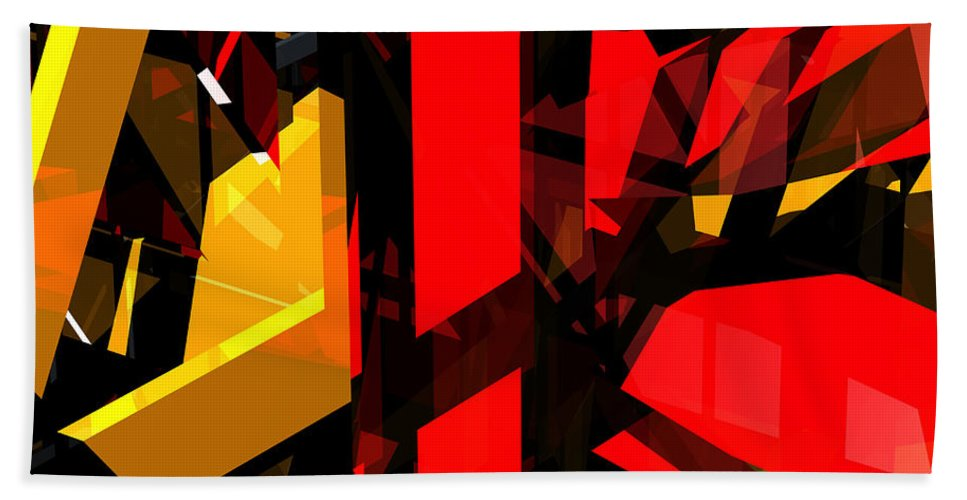 Abstract Beach Towel featuring the digital art Abstract Sine L 5 by Russell Kightley