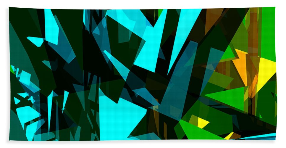 Abstract Beach Towel featuring the digital art Abstract Sine L 7 by Russell Kightley