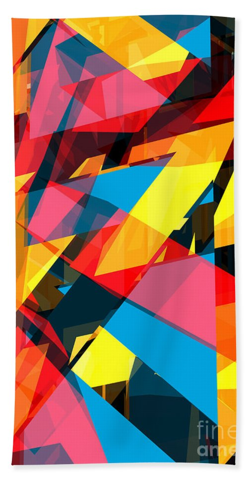 Abstract Beach Towel featuring the digital art Abstract Sine P 13 by Russell Kightley