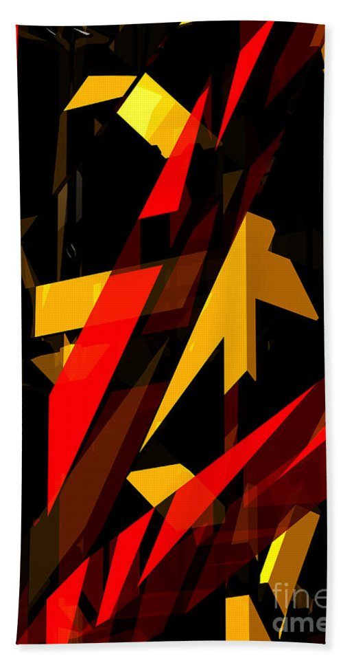 Abstract Beach Towel featuring the digital art Abstract Sine P 2 by Russell Kightley