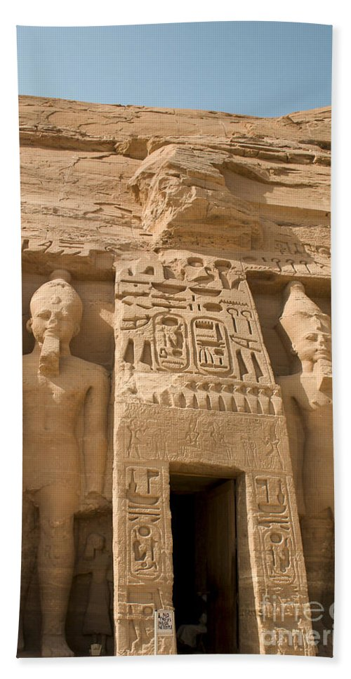 Abu Simbel Beach Towel featuring the photograph Abu Simbel Temple by Darcy Michaelchuk