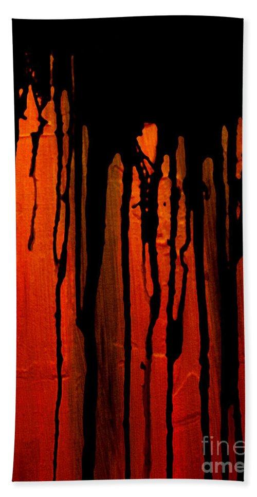 Acid Rain Beach Towel featuring the painting Acid Rain by Bruce Stanfield
