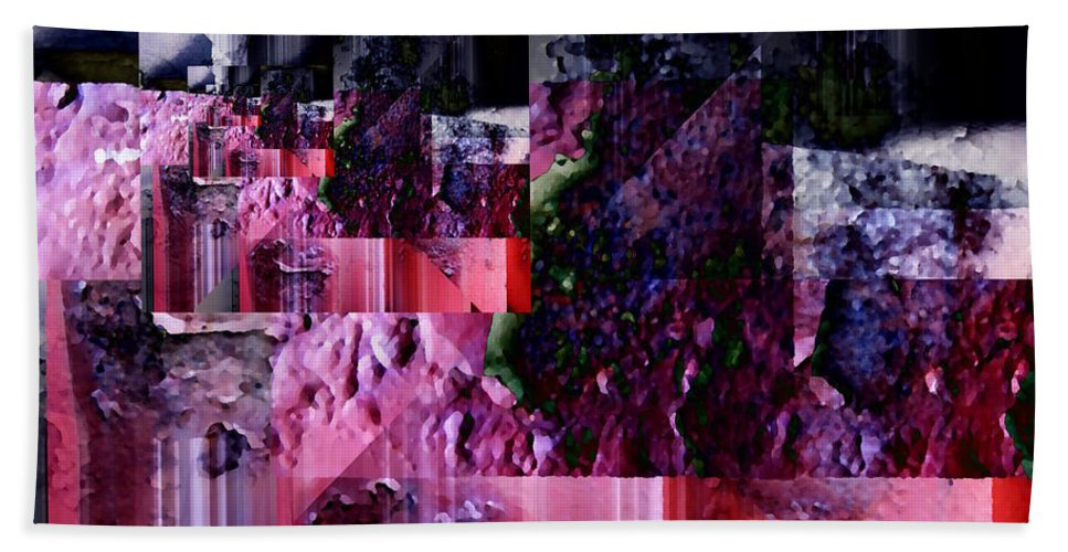 Abstract Beach Towel featuring the digital art After Effects by Tim Allen