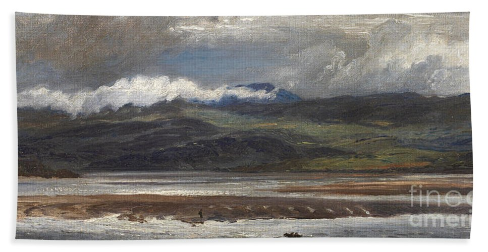 Seascape Beach Towel featuring the painting After Rain by Henry Moore
