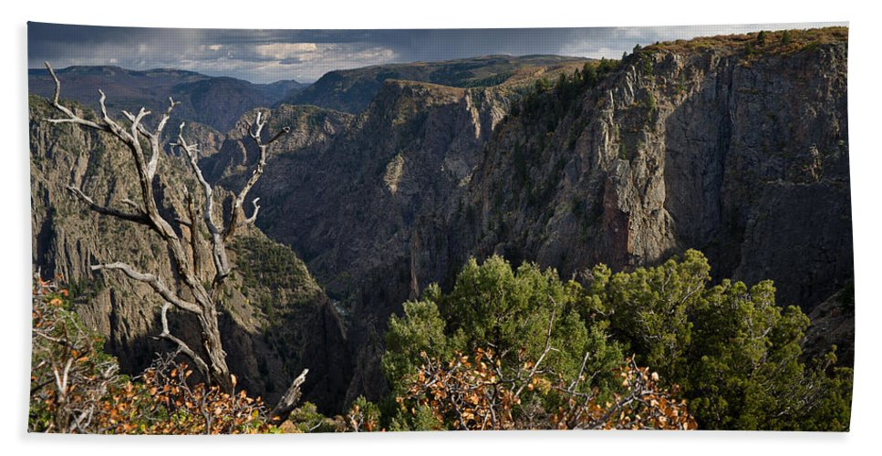 Black Canyon Of The Gunnison Beach Towel featuring the photograph Afternoon Clouds Over Black Canyon Of The Gunnison by Greg Nyquist