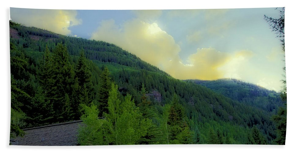 Colorado Beach Towel featuring the photograph Ah To Live On Vail Mountain by Madeline Ellis