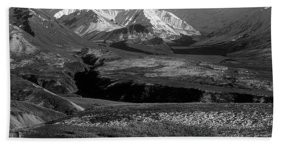 Alaska Beach Towel featuring the photograph Alaska Valley by Sandra Bronstein