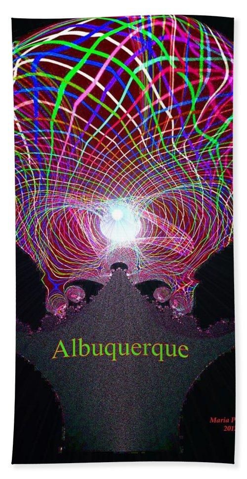 Albuquerque Beach Towel featuring the digital art Albuquerque by Maria Urso