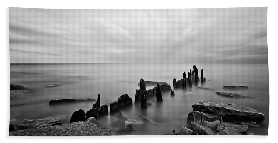 Www.cjschmit.com Beach Towel featuring the photograph All That Remains by CJ Schmit