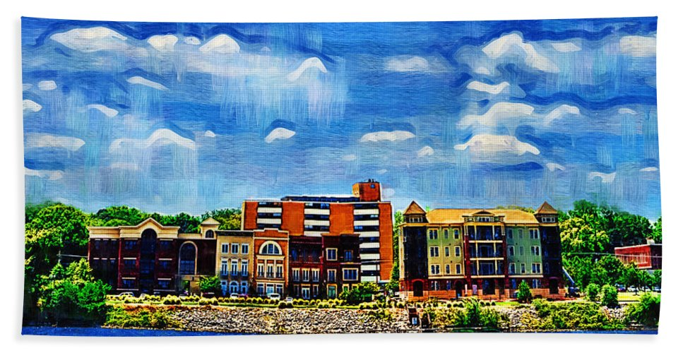 Decatur Beach Towel featuring the photograph Along The Tennessee River In Decatur Alabama by Kathy Clark