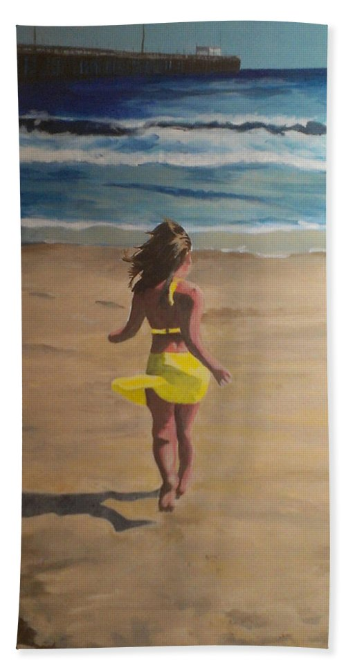 Beach Beach Towel featuring the painting Amelia Beach by Travis Day