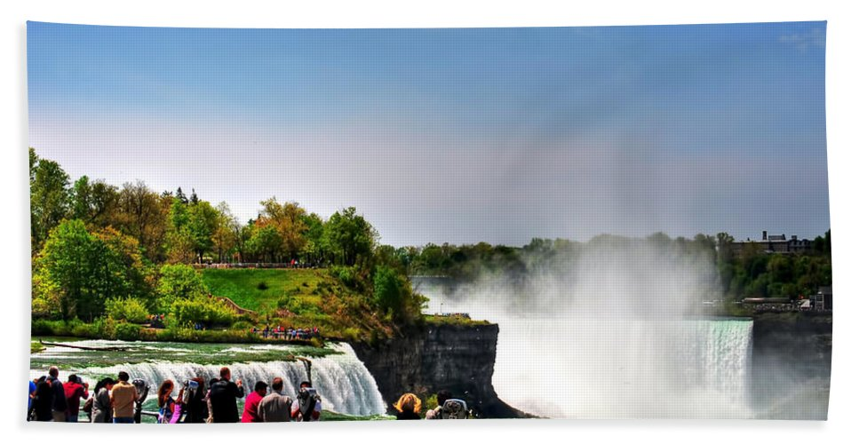 Beach Towel featuring the photograph American Falls by Michael Frank Jr